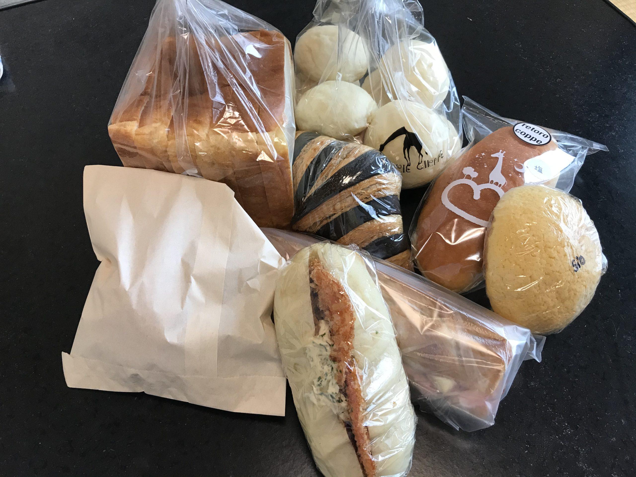ブーランジェリージラフのパンたち